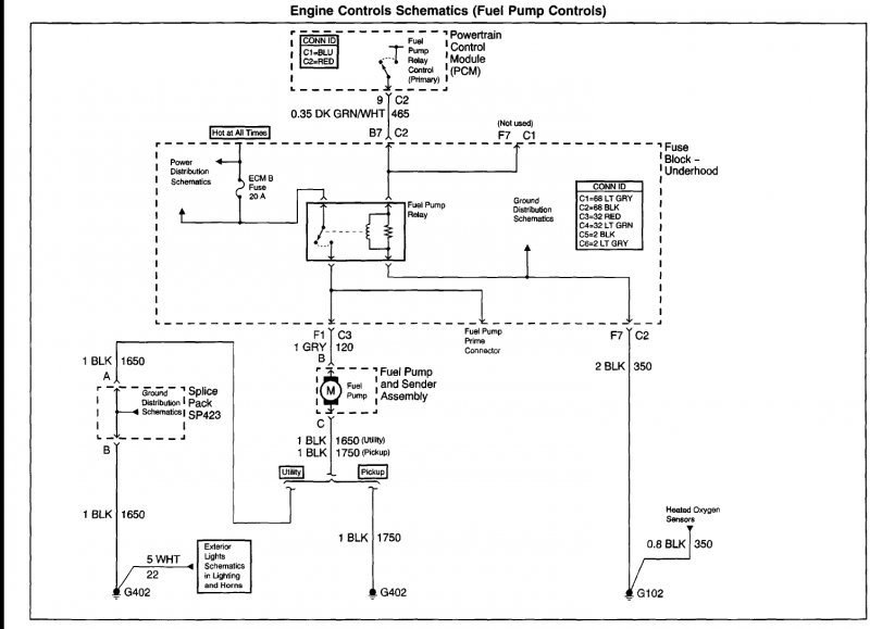 16479 2001 jimmy fuel pump not working 1a wire order for jimmy fuel pump connector? s 10 forum in tank fuel pump wiring diagram at mifinder.co