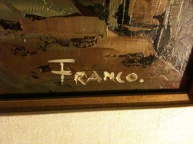 Oil on Canvas signed FRANCO
