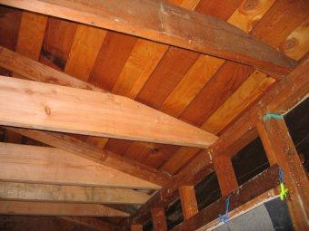 Ceiling Joist Ends Under Low Sloped Hip Roof
