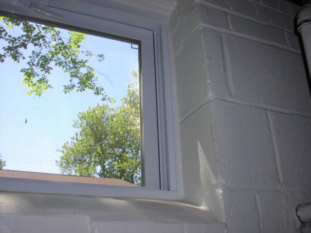 Replace Window In Basement With Block Construction