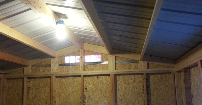 Insulation In Storage Shed
