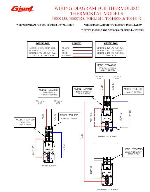 Heater 120v Wiring Diagrams : Giant water heater wiring v r