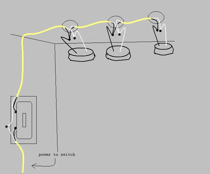 Wiring Diagram For Light Switch To Light : Wire multiple lights on one switch