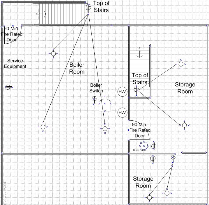 Retail Store Basement Electrical Plan