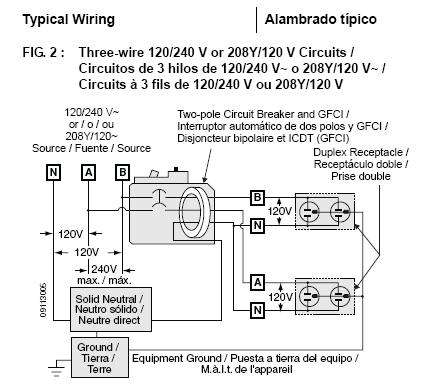120 volt gfci breaker wiring diagram can a square d 2 pole 20a    120    240v    gfci    be operated on  can a square d 2 pole 20a    120    240v    gfci    be operated on
