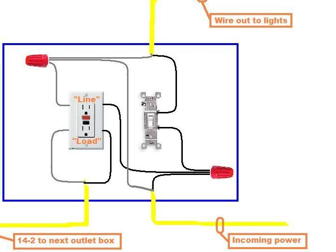 gfci outlet with switch wiring diagram   38 wiring diagram