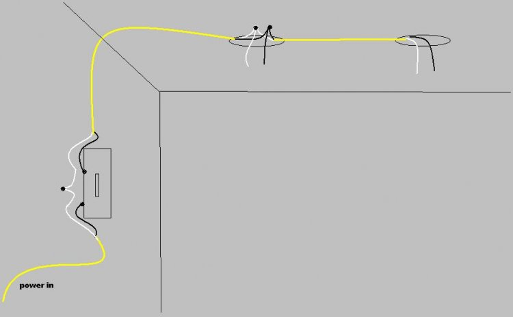 How Can I Wire 2 Lights Controlled By A Single Switch With