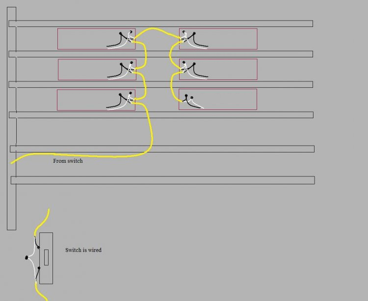 wiring diagram for multiple lights on one switch images way pin led wiring diagram on fluorescent lights in series