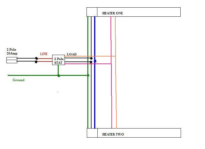 wiring multiple baseboard heaters diagram images how to wire double outlet wiring diagrams residential diagram website