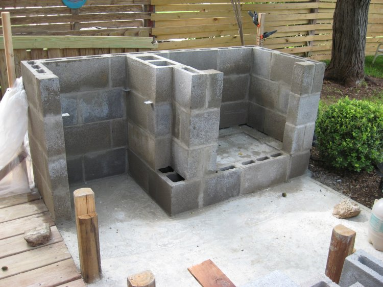 building an outdoor fireplace part 2 living stone