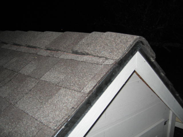 Shingles At Ridge Line On New Roof Are Very Bizarre