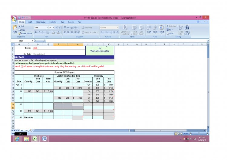fifo spreadsheet template - perpetual inventory using fifo
