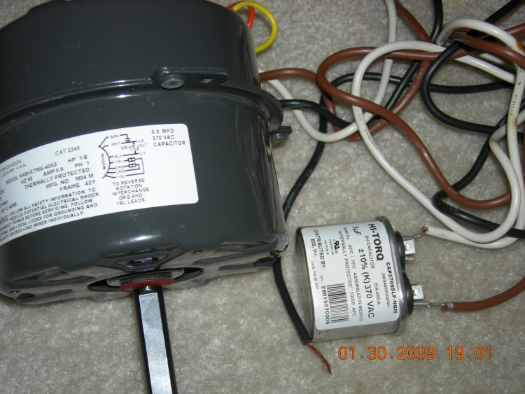 How do i wire up a new condenser fan motor for Condenser fan motor wiring