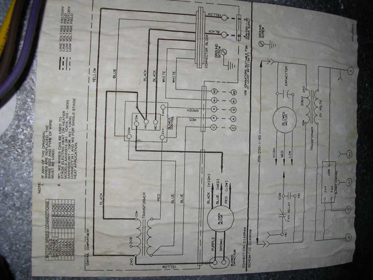 21160d1245850422 air handler blower wont start hum transformer diagram air handler blower won't start hum from transformer? heatcraft wiring diagram at webbmarketing.co
