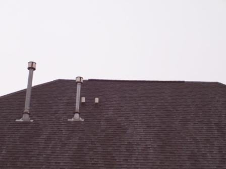Leak Near Radon Vent In Basement