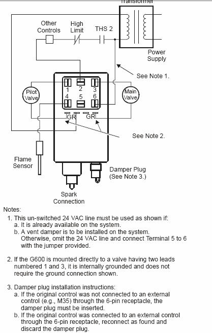 Wiring Changes  Johnson Controls G600ax
