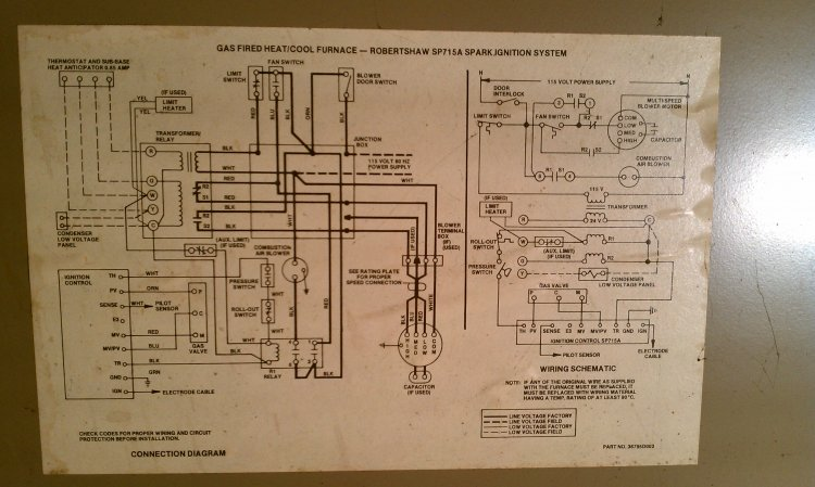 D Magic Chef Furnace Combustion Blower Motor Control Schematic on Furnace Blower Motor Wiring Diagram