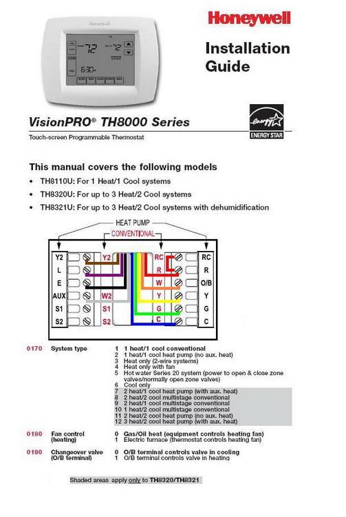 Wiring Thermostat Honeywell 8320u To Furnace Heat Pump