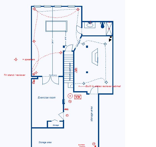 How Do I Run Speaker Wires In-wall In Finished Basement?