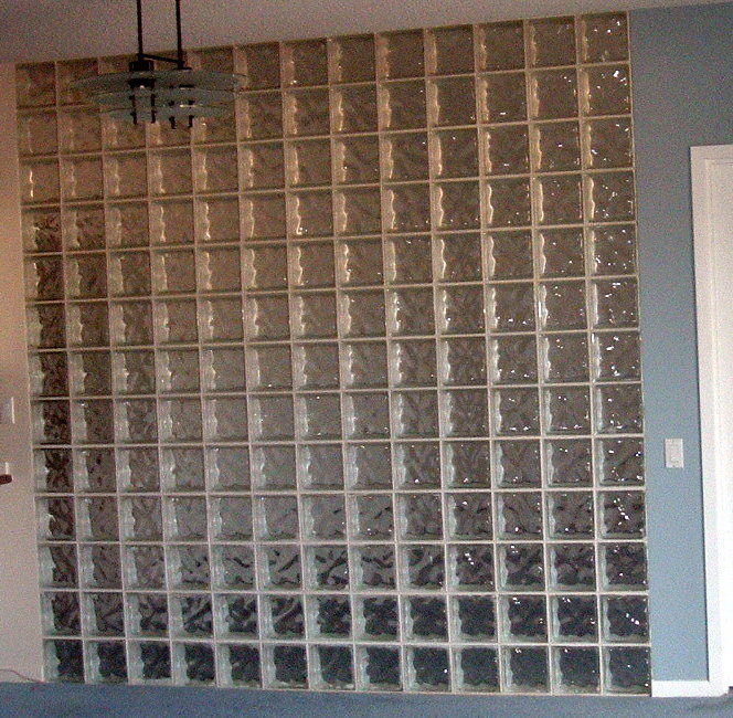 I want to remove a glass block wall