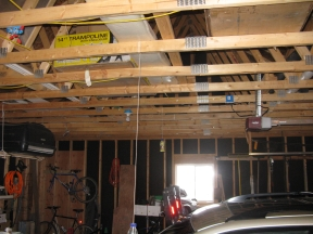 Is it ok to finish a garage with osb and do 2x4 trusses for Finished garages interior