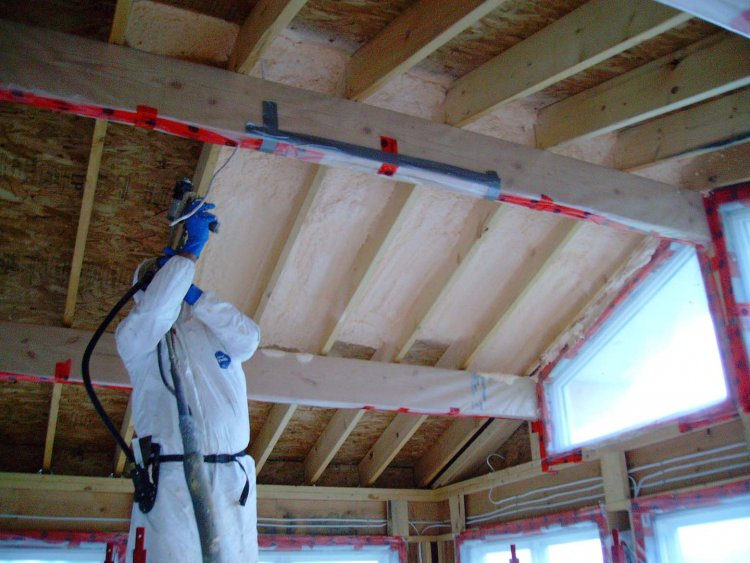 What S That Blue Spray On Foam Insulation