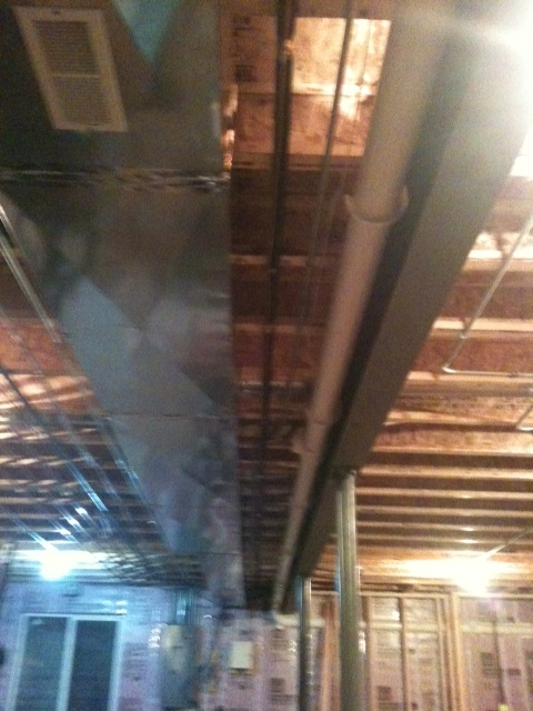 Frame Around Ductwork And Beam In Basement