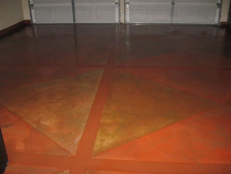 Can a concrete floor that has been stained be painted over for Can i paint a concrete floor