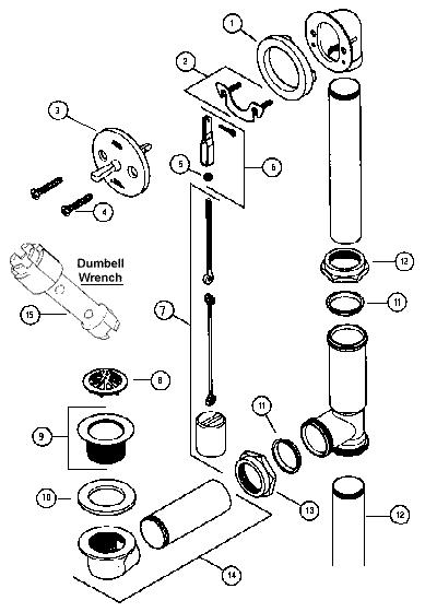12012d1220910600 leak under bathtub tub drain bucket