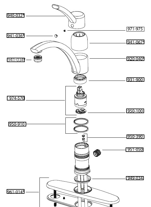 moen 7400 kitchen faucet repair diagram