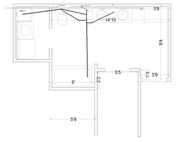 Basement bathroom layout page 2 for Basement bathroom design layout