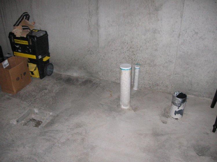 basement bathroom plumbing