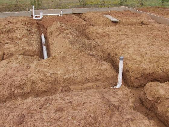 Plumbing Rough In - Concrete Slab