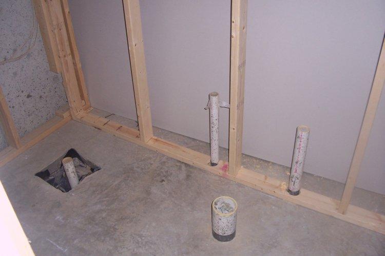 Basement bathroom for New home plumbing