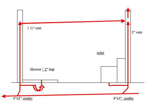 i need a riser diagram for an under slab bathroom. Black Bedroom Furniture Sets. Home Design Ideas