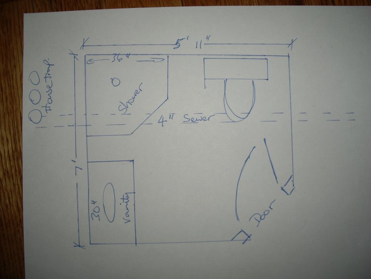 i need a riser diagram for an under slab bathroom house water well diagram