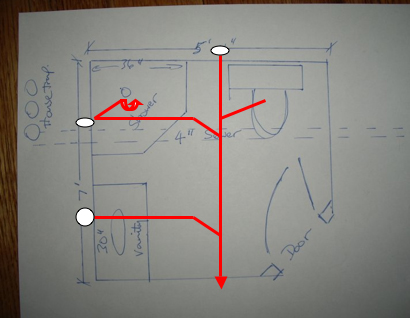 I Need A Riser Diagram For An Under Slab Bathroom