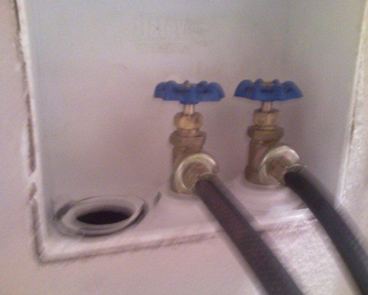 washing machine water hookup valve