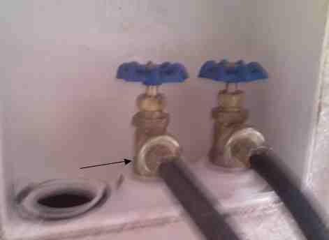 washing machine shut valve leaking