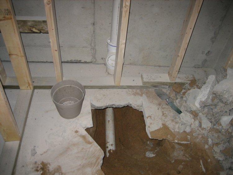 2038d1166143454 basement shower install basement