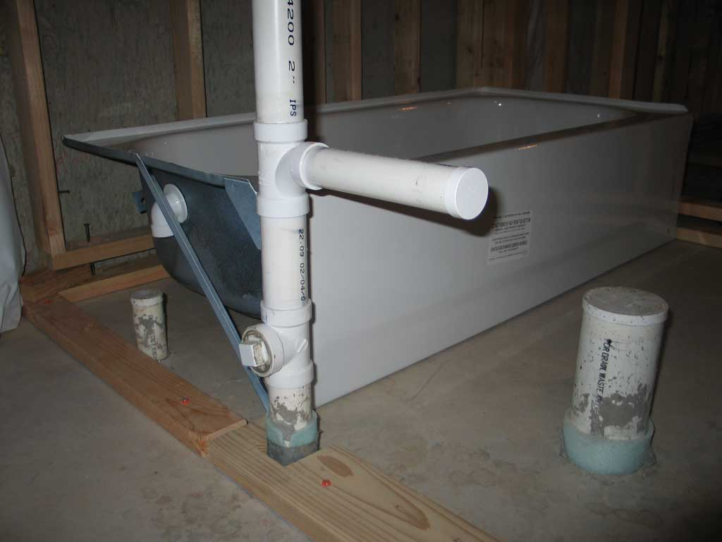 Bathtub Drain Installation In Concrete Floor Bathroom Design
