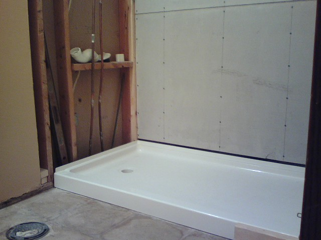 Converting a bath tub to a walk in shower - Walk in shower base ...