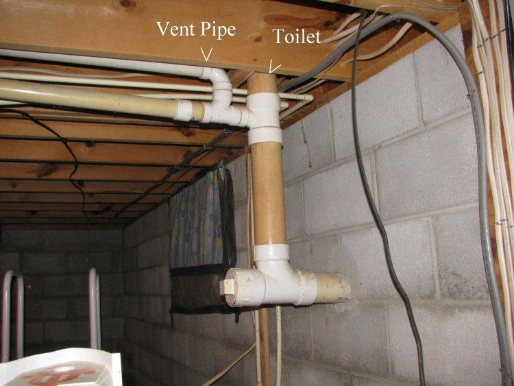 No Lavatory Vent Pipe In Attic