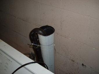 washing machine drain pipe overflow