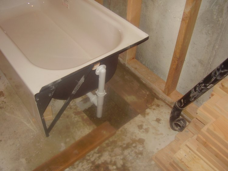 How to install a tub on a slab