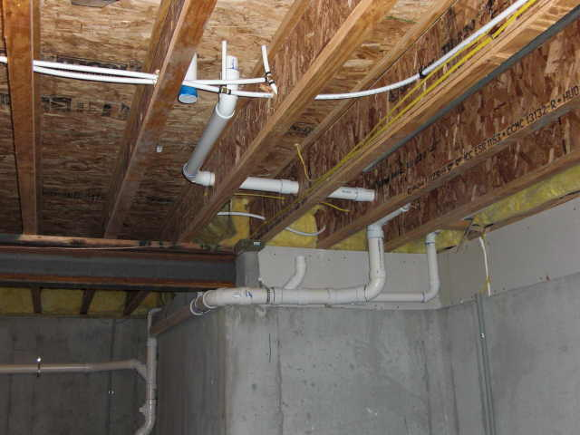 capped plumbing vent pipe in my basement to main septic drain