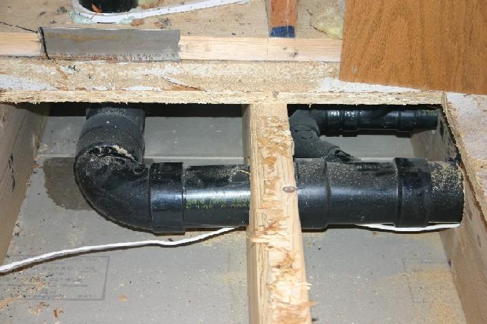 install drain pan washing machine