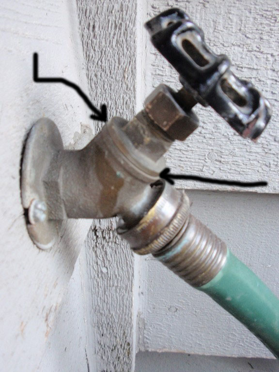 Outdoor Faucet Spraying