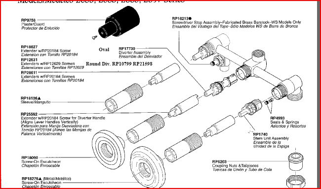 1167 additionally American Standard 4275551 Colony Soft Gooseneck Kitchen Faucet Spray Parts C 146040 146124 146199 moreover Delta Faucet Cold Water Wont Shut Off 502321 also Delta Shower Faucet Diagram in addition Read. on delta diverter valve repair parts