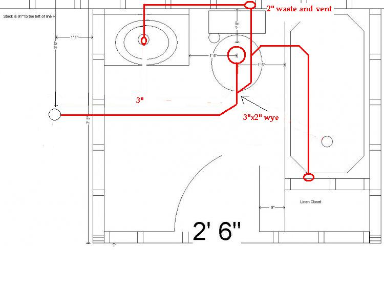 D Install Shower Basement Only Has Piece Rough Brett on Bath Tub Plumbing Diagram